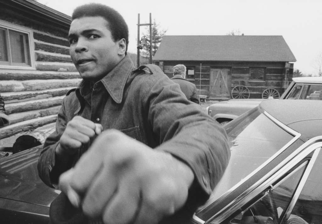 """Muhammed Ali at his compound in Deer Lake, Schuylkill County, in a scene from """"I Am Ali."""""""