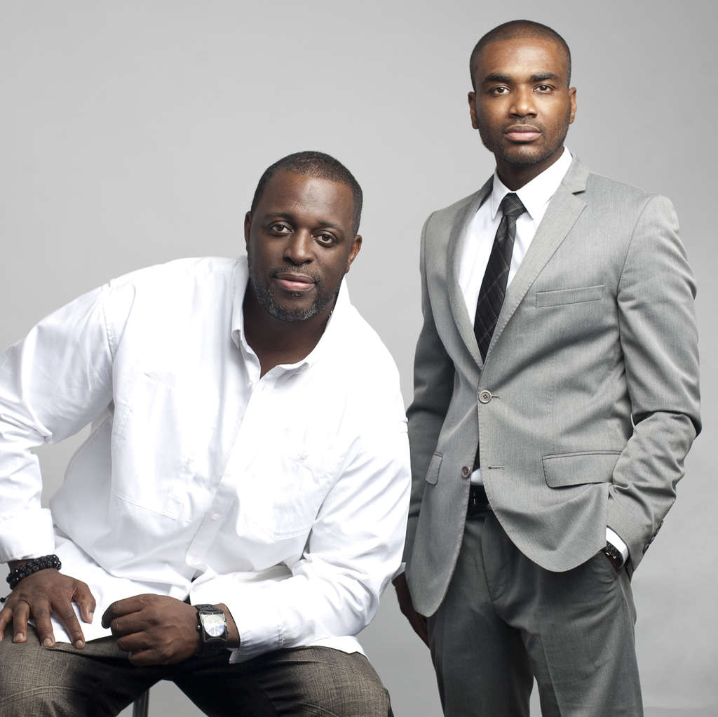 """WHITNEY THOMAS Charlie Mack Alston (left) with Jamal Hill, whose new film, """"Brotherly Love,"""" was screened privately in Beverly Hills last week for the likes of Diddy."""
