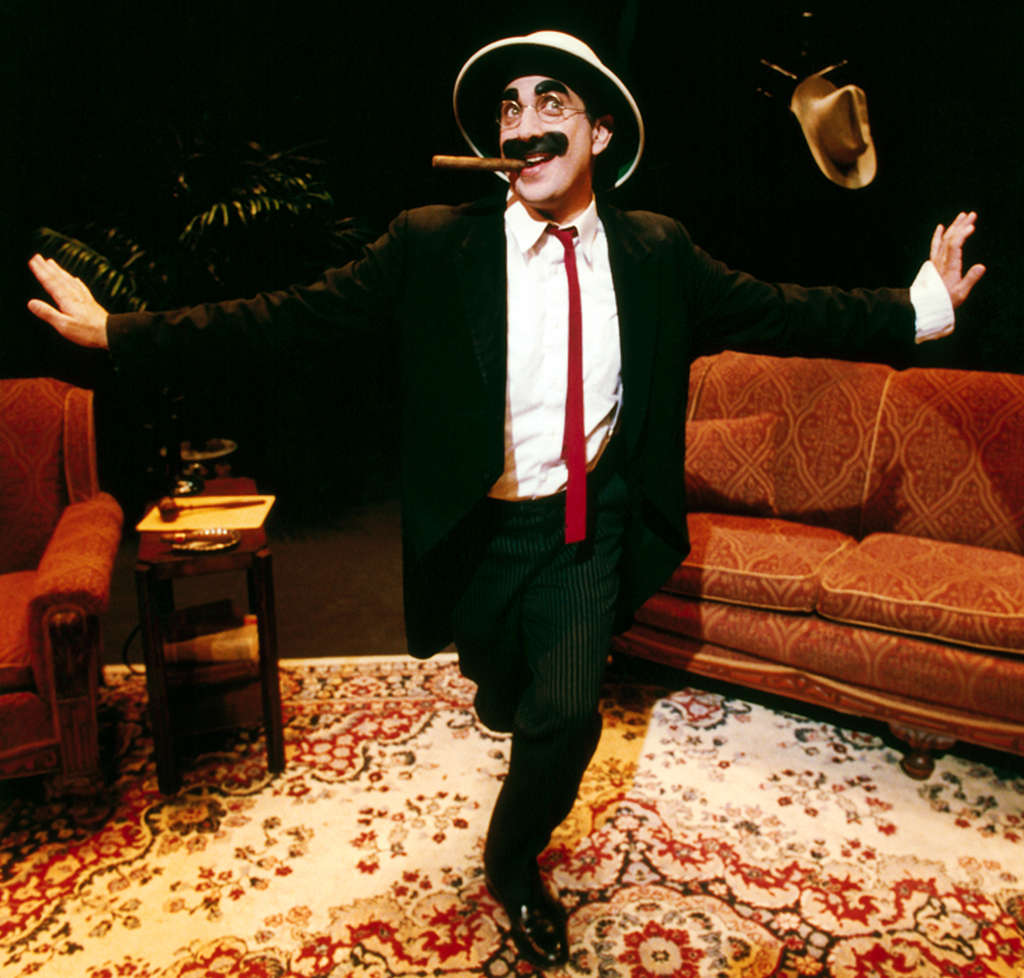 "Actor Frank Ferrante gets a chance to play Groucho Marx, someone he´s admired since he was a kid, in his one-man show, ""An Evening with Groucho."""