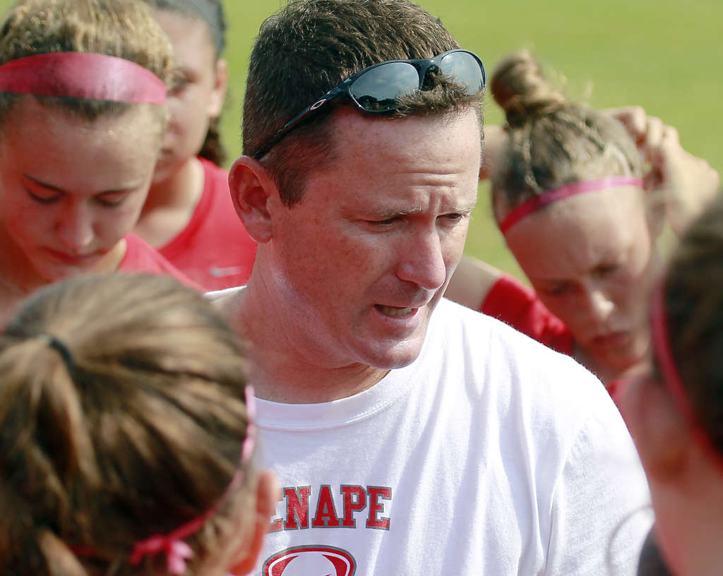 Lenape girls´ soccer coach Kevin Meder says he stresses winning, but having fun, too. The result is a successful team every year. AKIRA SUWA / Staff Photographer