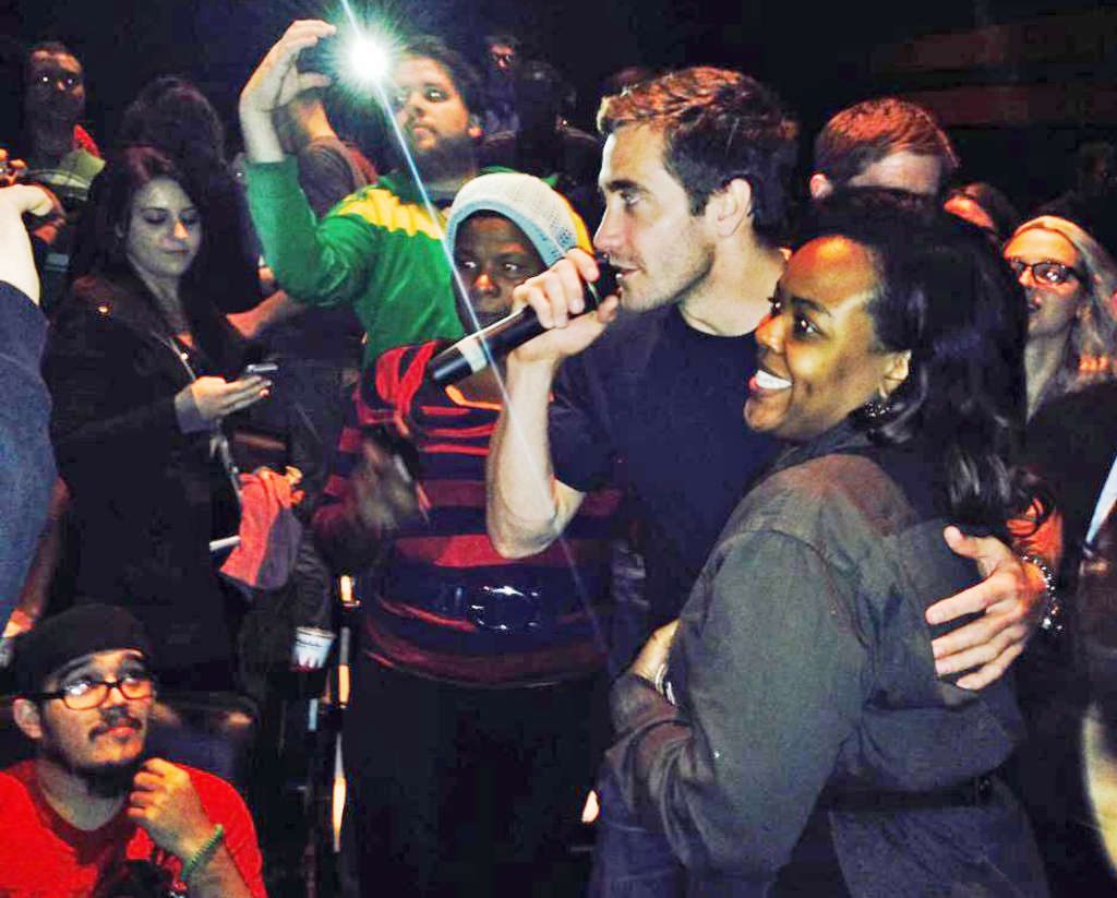 "Jake Gyllenhaal showed up at a Philly screening of ""Nightcrawler,"" made himself selfie-available, and hung out in University City."