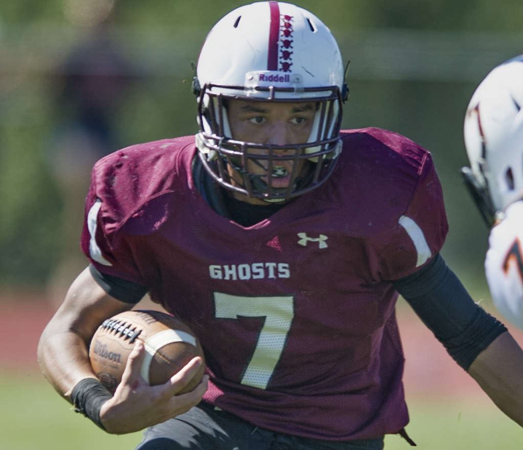Running back Juawine Sowell and the Abington Ghosts have a key game vs. North Penn. CLEM MURRAY / Staff Photographer