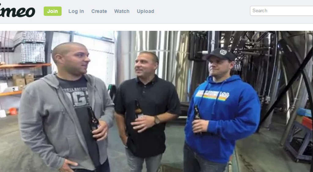 In this vid capture, the owners of 10 Barrel Brewing announce their sale to Anheuser-Busch-Inbev, seen as treason by craft lovers.