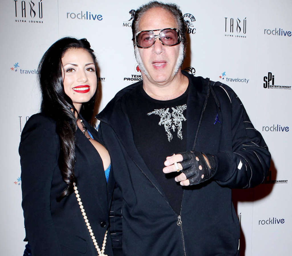JUDY EDDY / WENN.COM Valerie Vasquez with Andrew Dice Clay, who was mistaken for a drug smuggler with Philly radio host John DeBella while in Mexico.