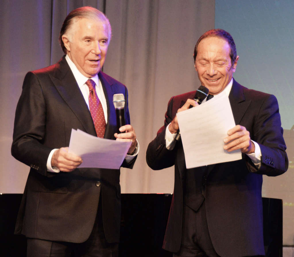 "HUGHE DILLON ""You did it your way"": Paul Anka (right) serenades Sidney Kimmel after the philanthropist received the Award of Merit from Jefferson."