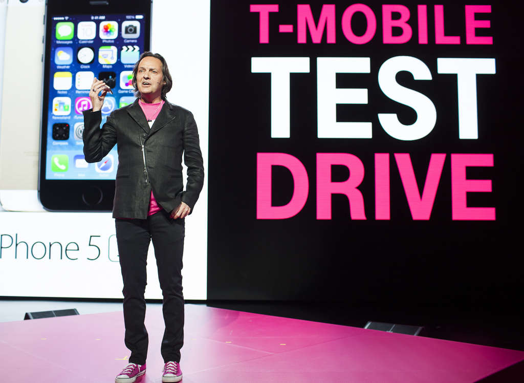 John Legere, chief executive officer of T-Mobile US Inc.,