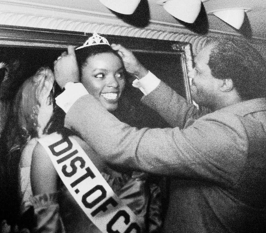 Former D.C. Mayor Marion Barry crown our columnist Miss D.C.