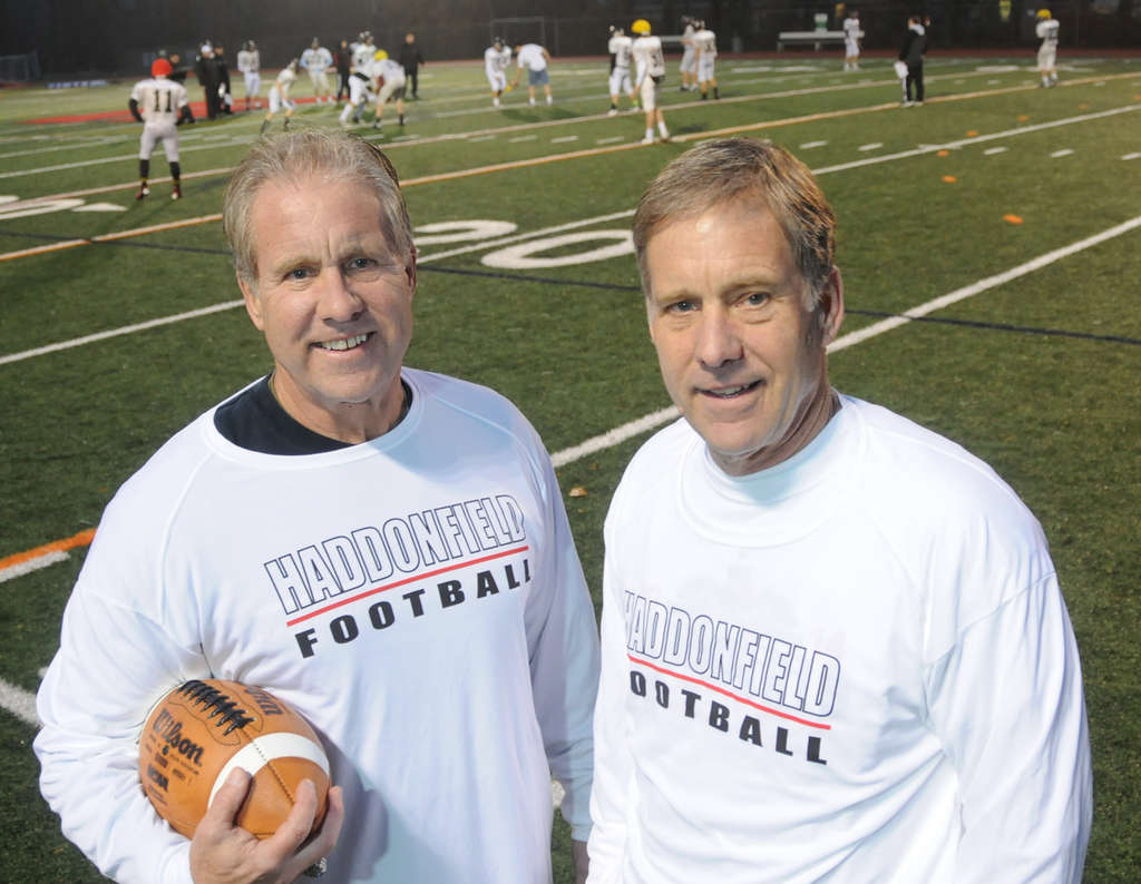 Twins Bob (left) and Dick Eastwick played on the 9-0 Haddonfield team of 1964. CURT HUDSON / For The Inquirer