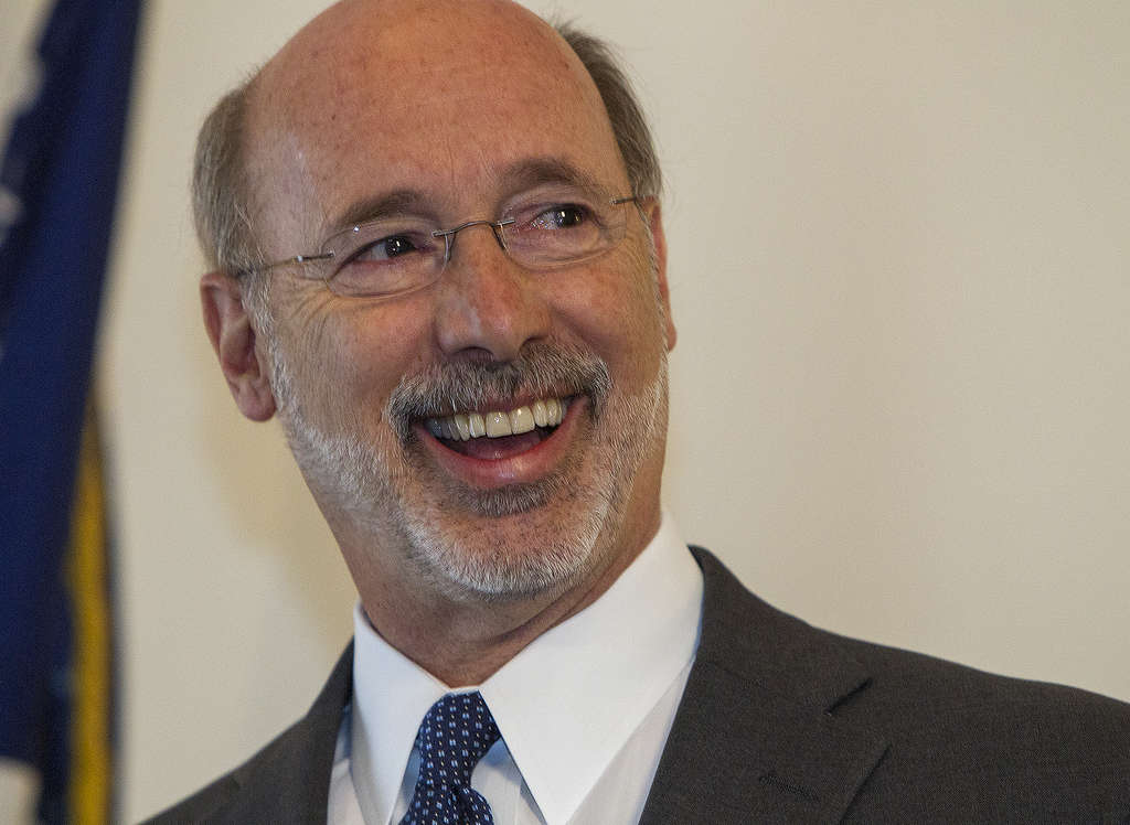 MARK PYNES / ASSOCIATED PRESS Gov.-elect Tom Wolf faces a predicted $2 billion budget shortfall. He also promised an additional $1 billion for schools. With tax-averse Republicans running the Legislature, an uphill battle awaits.
