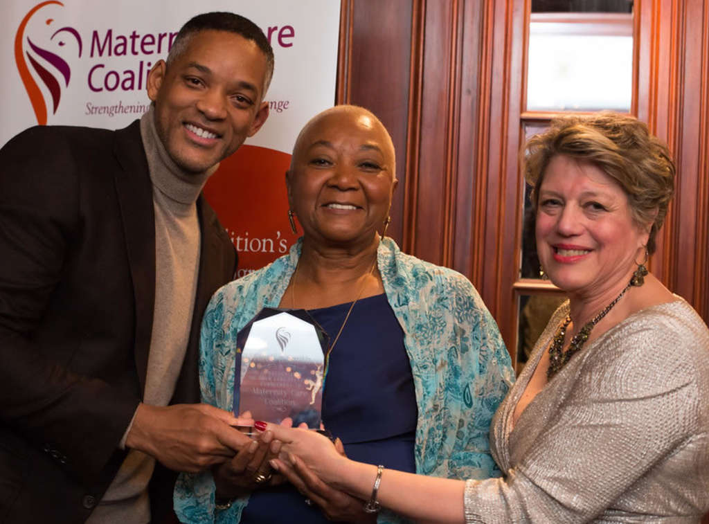 Proud son Will Smith came to town this weekend to support his mom, Carolyn, as she was honored for her work with the Maternity Care Coalition at the Smith Estate in Bryn Mawr. He topped the night off with a Sixers game.