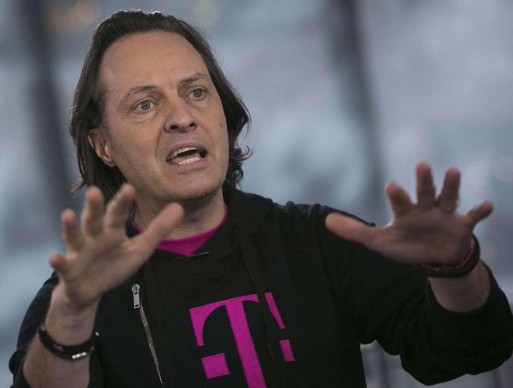 """John Legere , T-Mobile CEO, also took shots at the """"stupid, broken, arrogant industry."""" SCOTT EELLS / Bloomberg"""