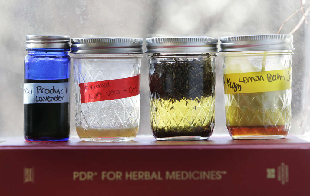 "Remedies made from medicinal plants made by students at Philadelphia University. ""They can make a difference in quality of life,"" says biology professor Anne Bower, especially when it comes to addressing long-term diseases."