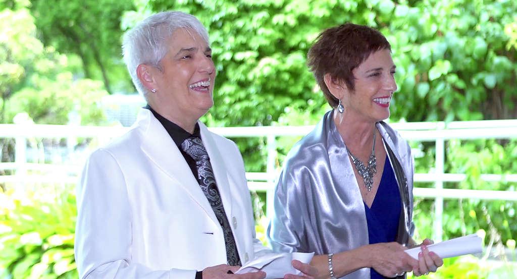 Rita Myers (left) and Bonnie Strahs.