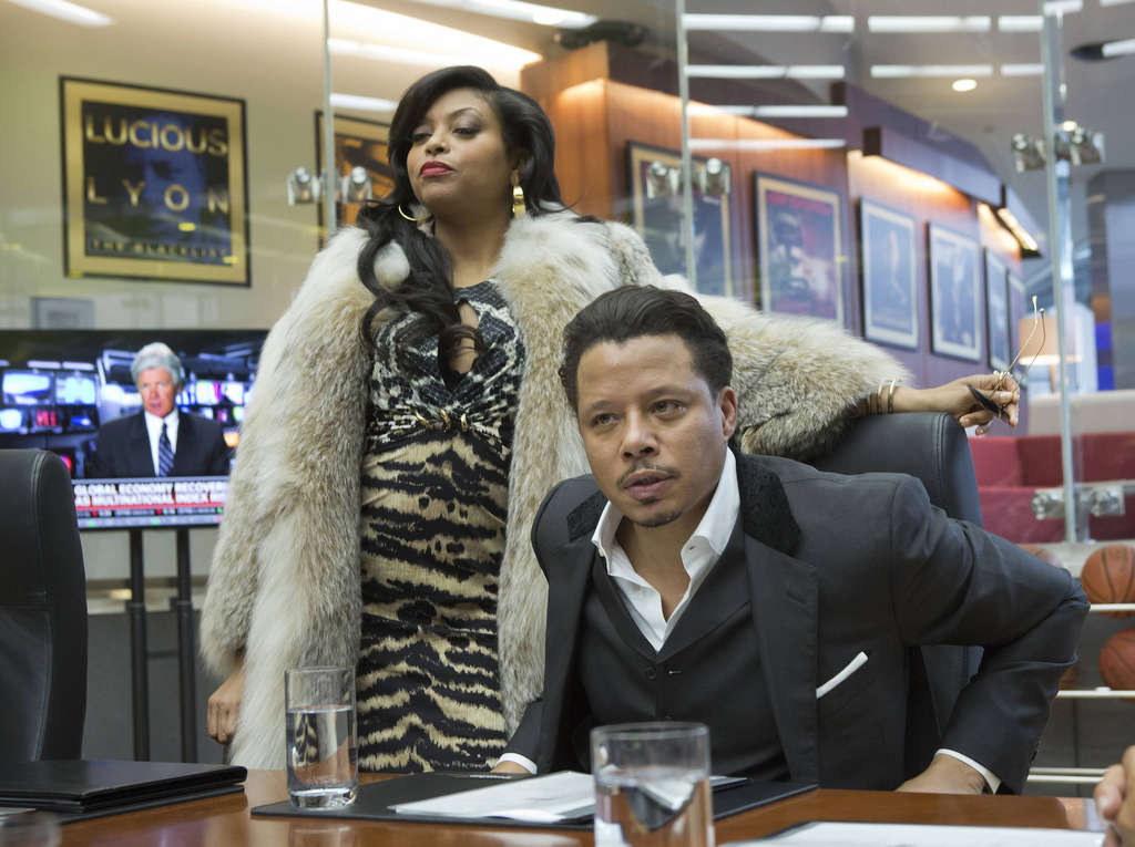 """On """"Empire,"""" Cookie Lyon (Taraji P. Henson) visits Lucious Lyon (Terrence Howard) to claim her share of the company, a recording empire"""