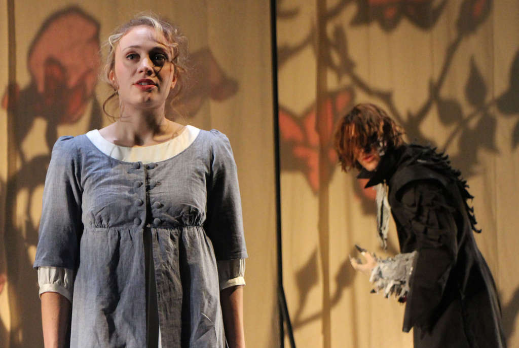 In the Arden production, Emilie Krause is Belle, the beauty, and Matteo Scammell is the beast.