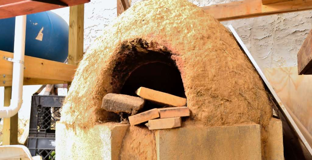The cob oven at Emerald Street Urban Farm in Kensington has been used to cook pizzas.