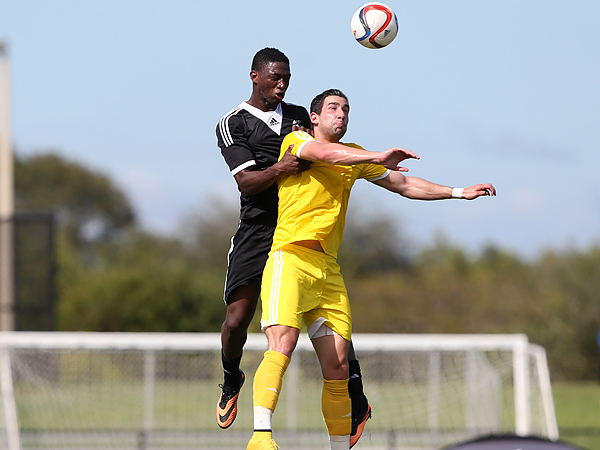 Manolo Sanchez (front) in action during this week´s MLS Combine. (Andy Mead/MLS)