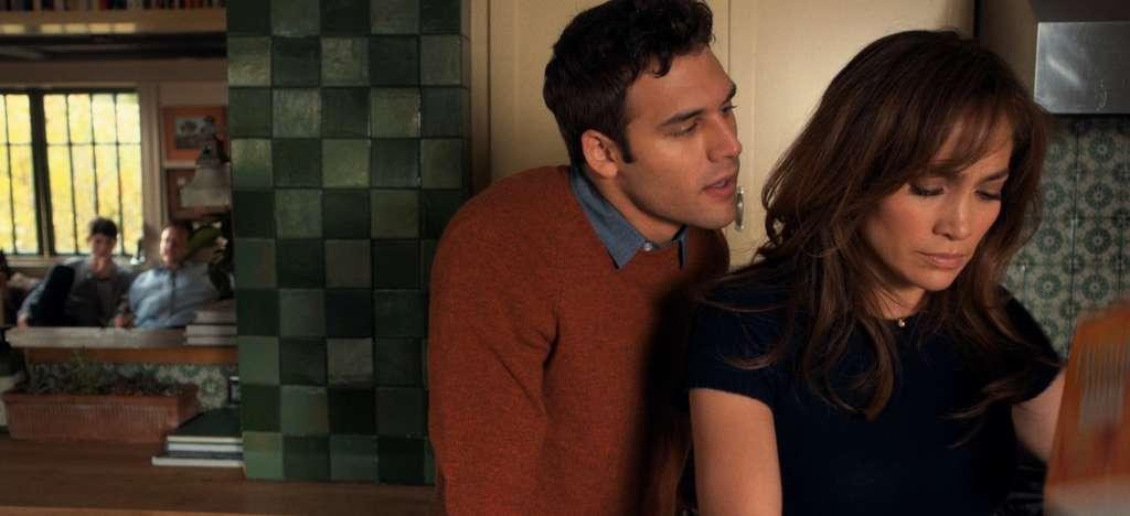 "Third-rate romance: Ryan Guzman and Jennifer Lopez in ""The Boy Next Door."""