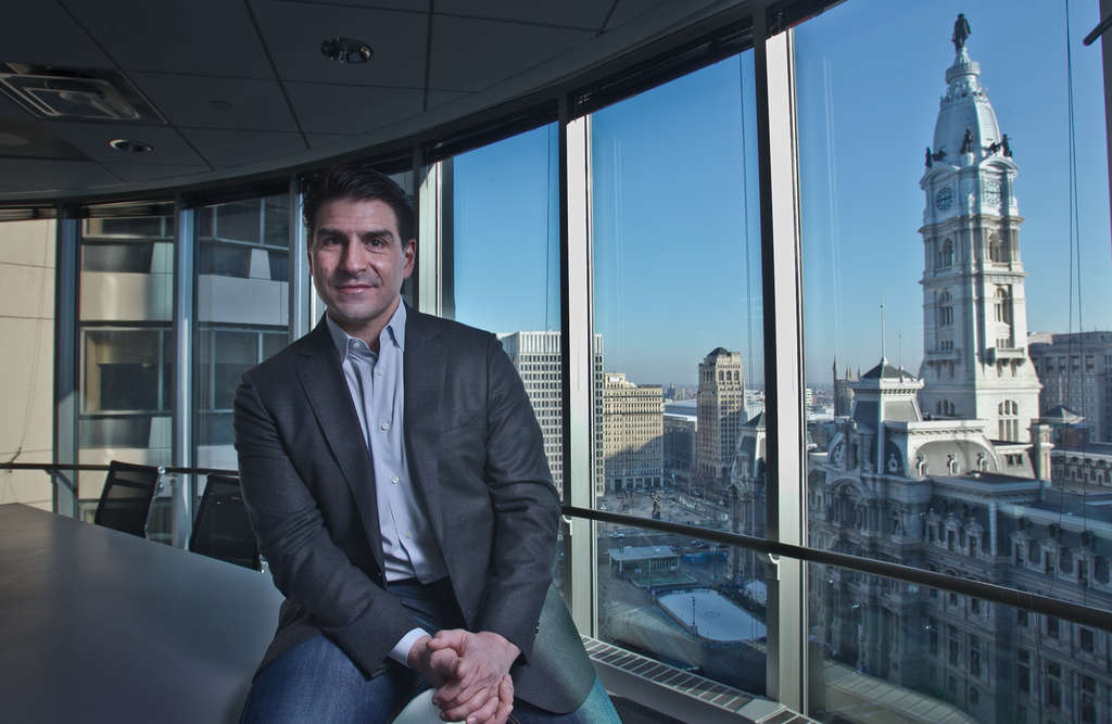 David Grasso enjoys the view at Pipeline — and you can, too. The co-working space has room to grow