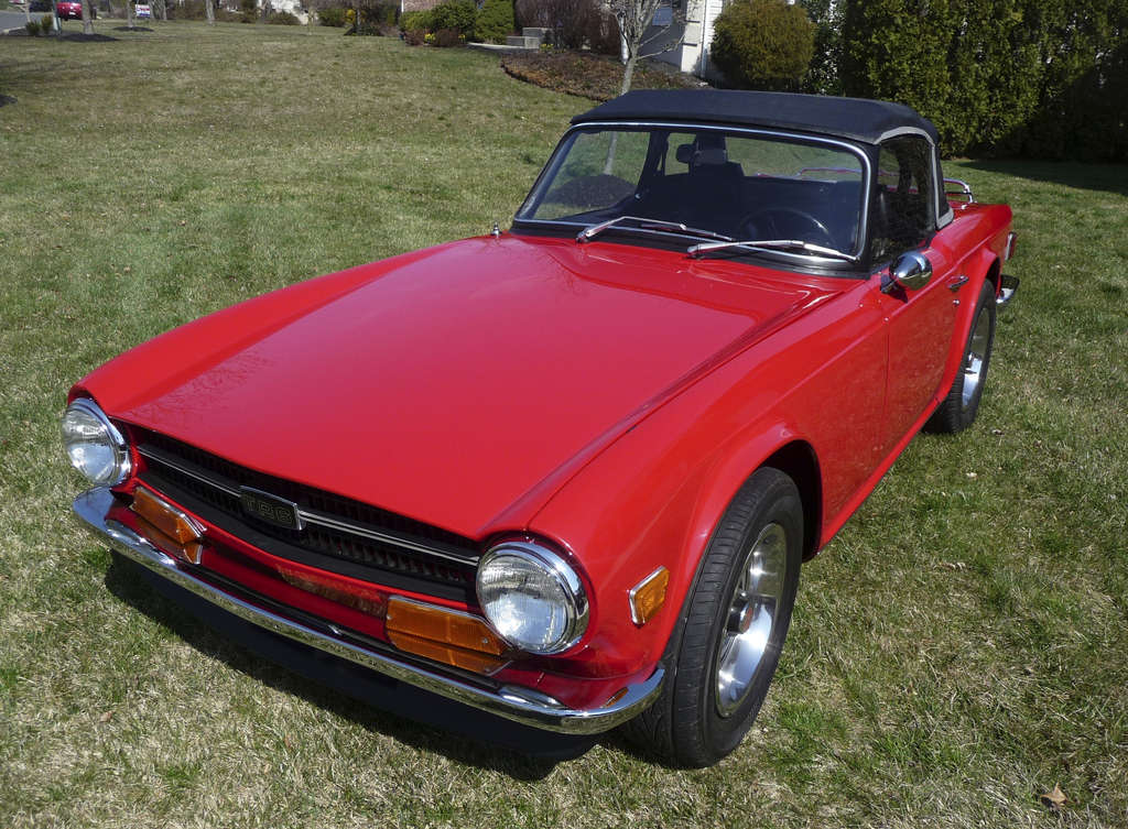 This 1971 Triumph TR6 owned by Joe Cieslak of Gilbertsville will take part in the Auto Show´s Face Off.
