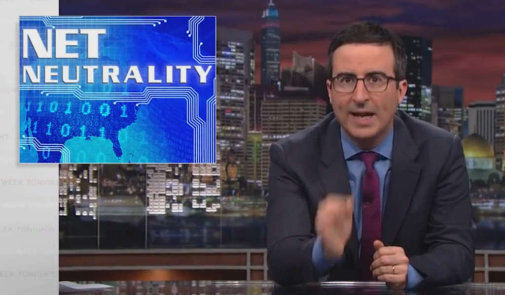 "The comedian John Oliver discussed Net neutrality on his show, ""Last Week Tonight,"" encouraging everyday Internet users to contact the FCC on the issue. Many did. HBO"
