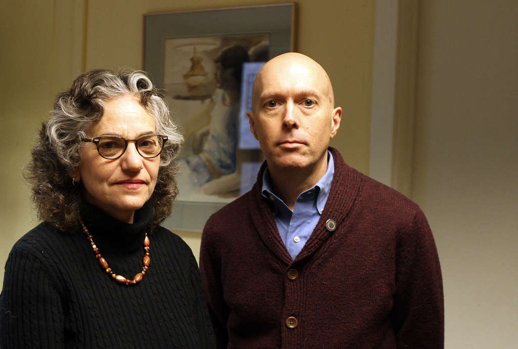 DAVID MAIALETTI / STAFF PHOTOGRAPHER Nancy and Kevin Peter , whose son was arrested for having drugs at school, were able to navigate the legal system with help from personal contacts. They fear other parents may not have the same resources.