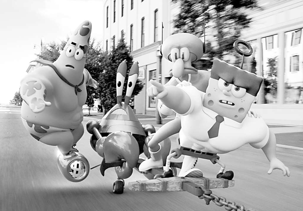 "The gang from Bikini Bottom bulk up in 3D for ""The SpongeBob Movie: Sponge Out of Water."""