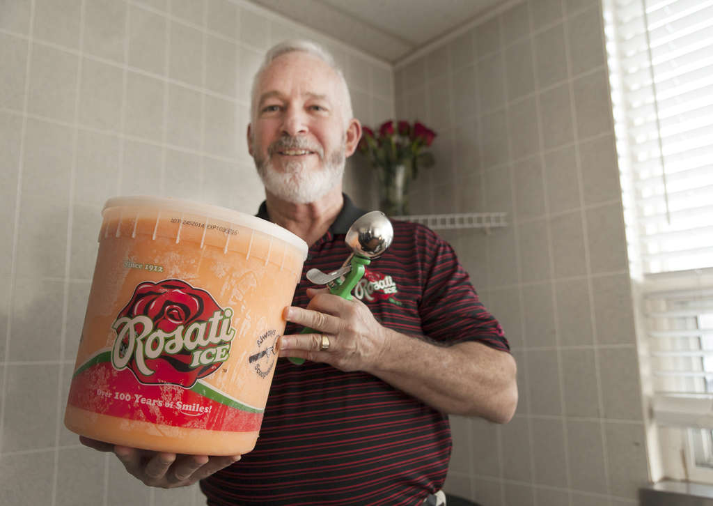 Richard Trotter´s Rosati water ice has an innovative recipe that lets schools use their ice cups as fruit replacements.