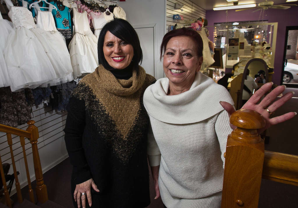 ALEJANDRO A. ALVAREZ / STAFF PHOTOGRAPHER RoseRita DePiano (left) and Mary Fioravant opened A Star is Born on Passyunk Avenue to cater to the city´s pint-size fashion plates.