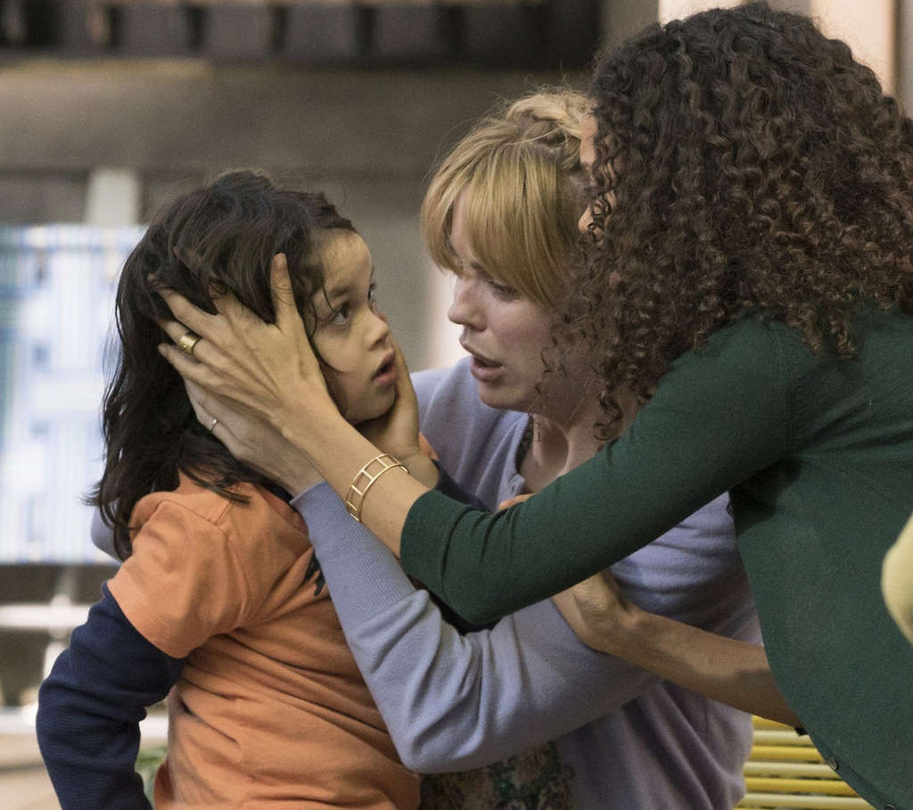 """The Slap"" features (from left) Dylan Schombing, Melissa George, and Thandie Newton."