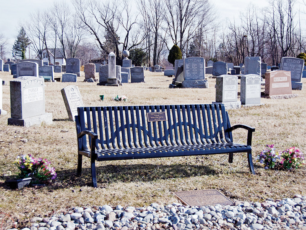 Inspired by toni morrison to mark the lives of slaves Cemetery benches