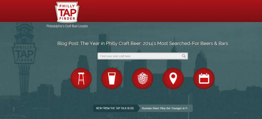 Philly Tap Finder , like other beer-tracking sites, doesn´t have a bad head but lacks something when it comes to body. The site plans to launch a smartphone app this year.