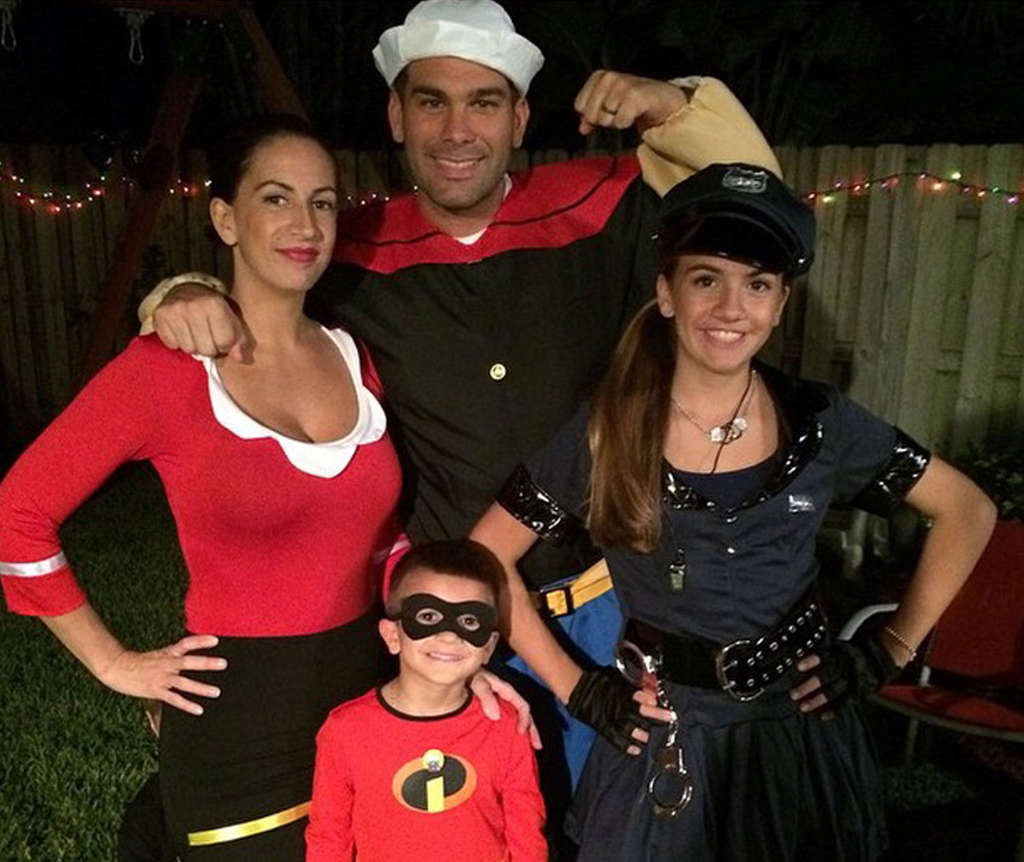 FAMILY PHOTO Frank Donatucci (center) with wife, Betsy, and children, Brianna and Frankie, at Halloween.