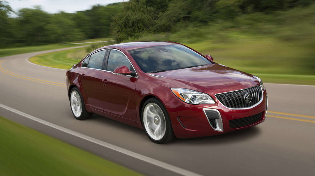 The Buick Regal AWD GS ($39,300 base) comes with a 2.0-liter turbocharged engine producing 259 horsepower.