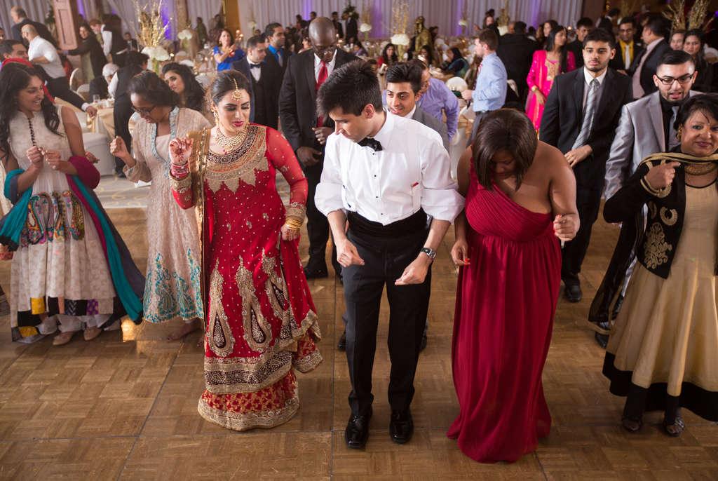 Fatima Baig and Tarik Khan at their reception.