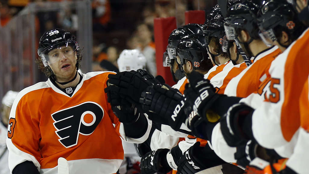 Jake Voracek and the Flyers are four points out of a playoff berth.