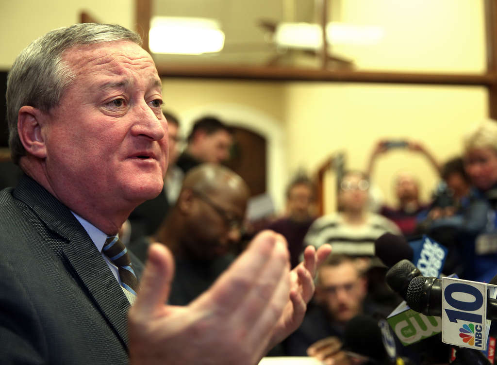 DAVID MAIALETTI / STAFF PHOTOGRAPHER Jim Kenney is confident that he has a fighting chance in the mayor´s race, despite the wide field.
