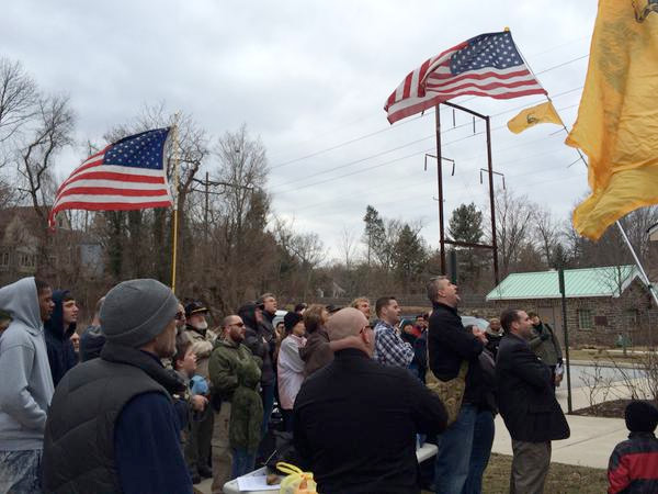 About 70-80 supporters gather to protest Lower Merion gun rule they say is illegal.