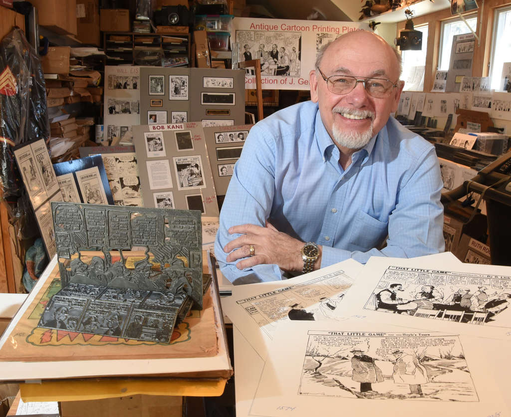 Joe Getsinger, an artist and collector, in his Woodbury Heights studio. He has a book coming out later this year.