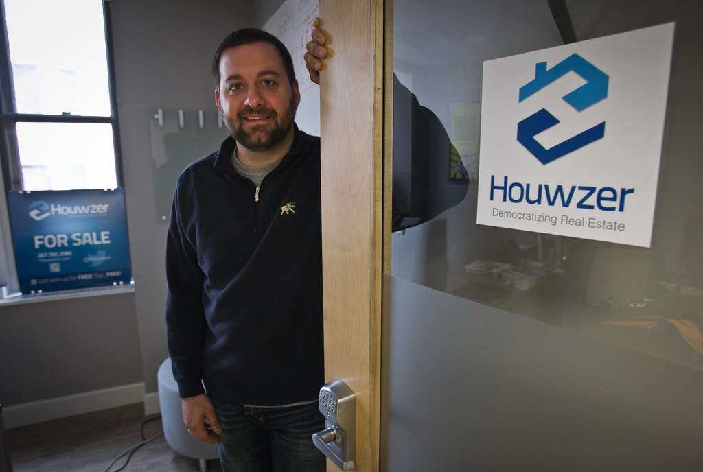 ALEJANDRO A. ALVAREZ / STAFF PHOTOGRAPHER Mike Maher is co-founder and CEO of Houwzer, a real-estate startup that uses a zero-commission listing model in hopes of creating a more competitive marketplace for consumers.