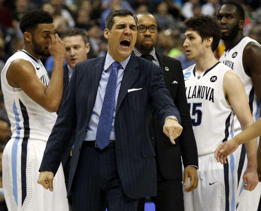 YONG KIM / STAFF PHOTOGRAPHER With coach Jay Wright, Villanova won the Big East Tournament, achieved the No. 1 seed in the East and finished the season at 33-3.