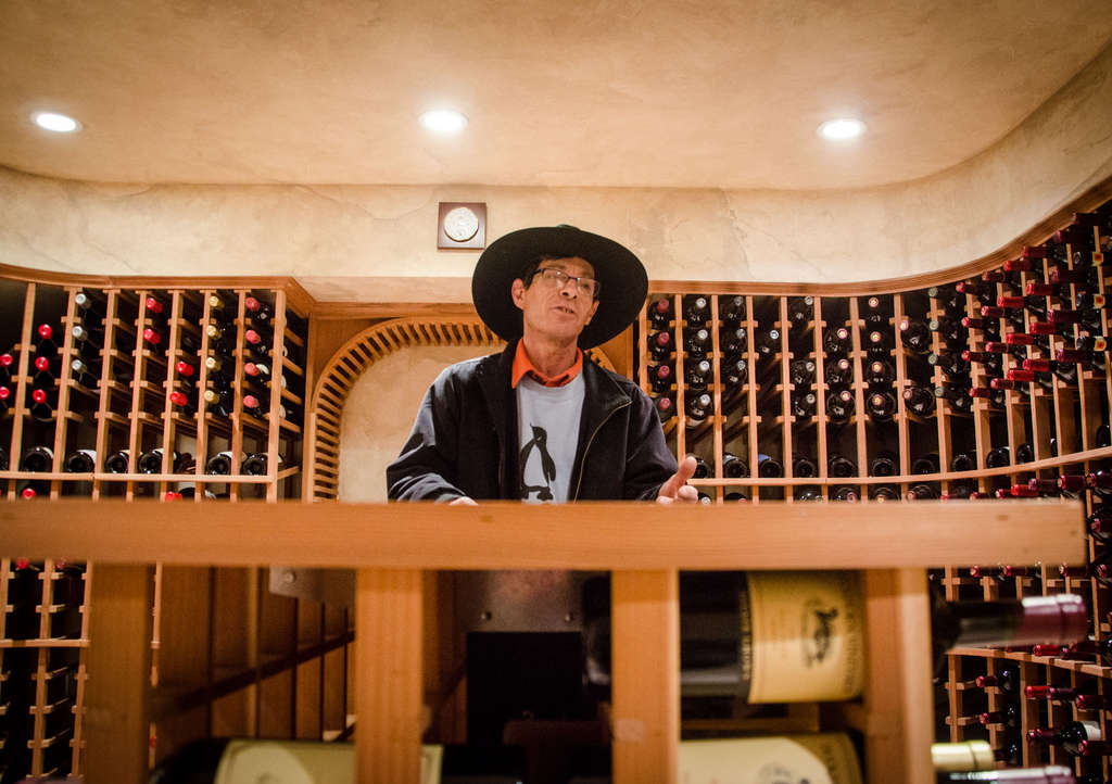 "Scot ""Zippy"" Ziskind of Zipco Wine Cellars in a cellar he built in Bryn Mawr. If the state did approve medical marijuana, Ziskind could be a force."