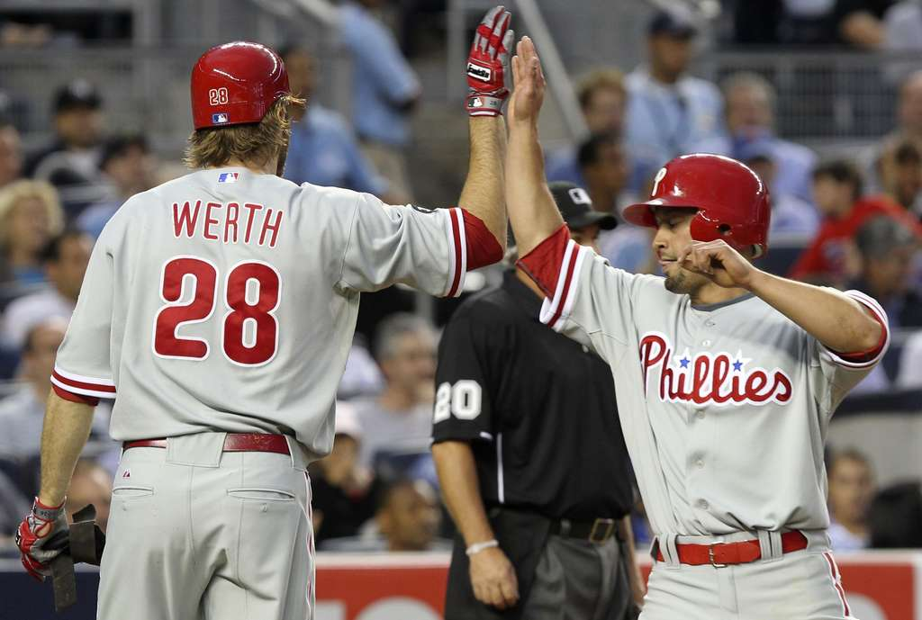 ASSOCIATED PRESS The loss of Jayson Werth and Shane Victorino, shown here in 2010, helped hasten the Phillies´ downfall in recent seasons.