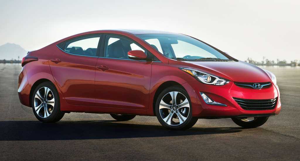 The 2015 Hyundai Elantra carries the same design as its predecessors, but handles and accelerates better.