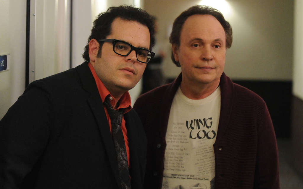 "Josh Gad and Billy Crystal portray themselves, sort of, in the FXmockumentary series ""The Comedians."""