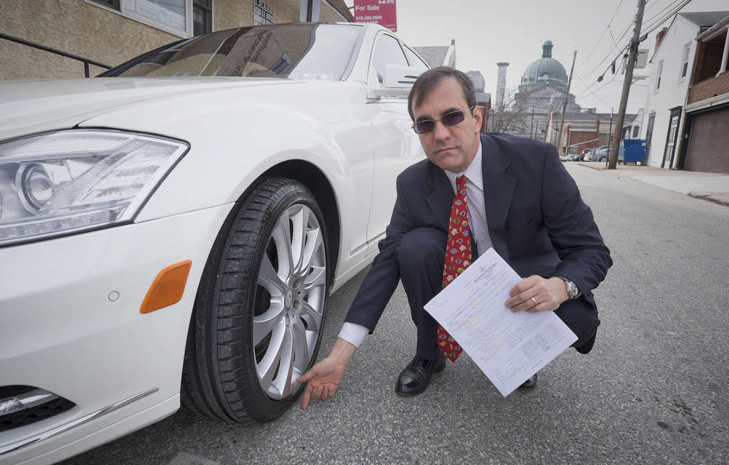 David Schiller of Ambler had to replace six tires on his Mercedes S550 and had to leave it in the garage for winter.