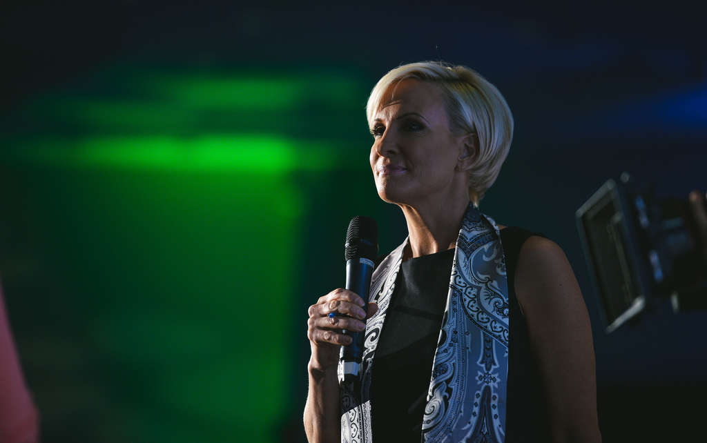 "Mika Brzezinski , of MSNBC´s ""Morning Joe,"" speaks on a tour that hopes to empower working women."