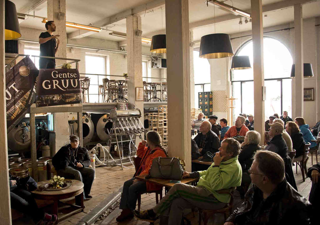The sermon on the pint at the Gruut Brewery, in Ghent, Belgium.