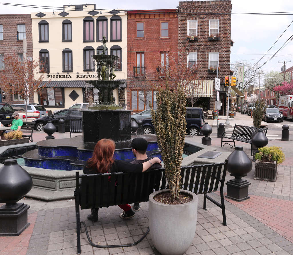 The Singing Fountain, where 11th and Tasker Streets crosses Passyunk Avenue.