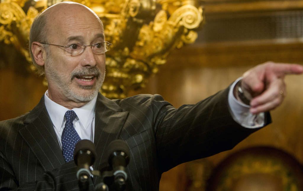 ASSOCIATED PRESS Gov. Wolf´s budget includes reduced property taxes, more sales taxes, cutting business taxes and hiking the minimum wage.